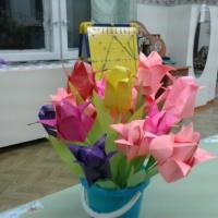 Мастер-класс по изготовлению поделки в технике оригами «Тюльпан в подарок маме»