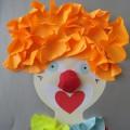 Мастер-класс объемной аппликации «Веселый клоун»