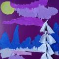 Мастер-класс объемной аппликации «Зимний пейзаж»