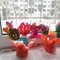 Мастер-класс по изготовлению цветов из контейнеров из-под яиц «Цветы для мамочки»