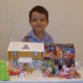 Праздничный домик для Дедушки Мороза