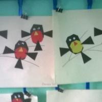 Аппликация в старшей группе «Вот на ветках птички— снегири, синички»