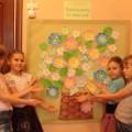 Мастер-класс по изготовлению коллективной картины «Корзинка цветов для мамы моей»