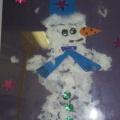 Аппликация «Веселый снеговик» (подготовительная группа)