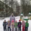 Зимняя прогулка. Рисование на снегу.