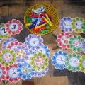 Дидактическая игра «Математические цветочки»