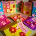 Подарок маме к 8 Марта. Открытка «Цветы в технике квиллинг». Мастер-класс