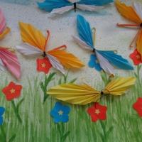 Фотоотчет о конструировании в технике оригами «Бабочка»