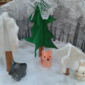Макет зимнего леса