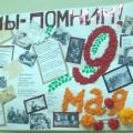 Стенгазета к 9 Мая «Мы помним»