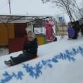 Снежная сказка двора в стиле гжель