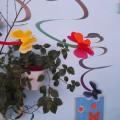 Бабочки 3d из цветной бумаги на спирали из картона