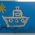 Поделка для папы к Дню Защитника Отечества «Кораблик» из пластилина, крупы и ниток