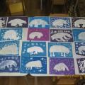 Рисование гуашью «Белый медведь». Работы детей подготовительной к школе группы