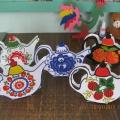 Мастер-класс по изготовлению и росписи декоративных бумажных чайников.