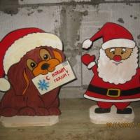 Мастер-класс по изготовлению фигур новогодних героев из листов фанеры. Часть 2: «Дед Мороз и Собачка»