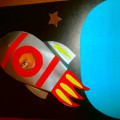 Мастер-класс (объемная аппликация в формате 3D) Подарок папам «Полет в космос»