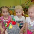 Игровая ситуация с детьми первой младшей группы «В гостях у ежика»