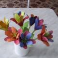 Цветочек в подарок маме. Мастер-класс