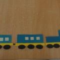 Дидактическая игра «Собери поезд»