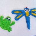 Мозаика из нарезанных коктейльных трубочек «Веселые подружки— стрекозы и лягушки». Мастер-класс