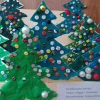Поделки в технике пластилинографии «Чудо-ёлочки новогодние»