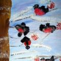 Мастер-класс «Снегири прилетели». Коллективная работа по рисованию