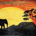 Конспект НОД по рисованию «Африканские пейзажи» в подготовительной к школе группе