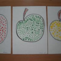 Конспект НОД по рисованию ватными палочками в старшей группе «Яблоки»