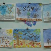 Конспект НОД по рисованию «Осенний пейзаж» в подготовительной группе