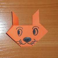 Мастер-класс по конструированию из бумаги в технике оригами «Кошка»