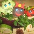 Фотоотчет «Осень. Поделки из овощей и природного материала»