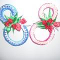 Подарок маме на 8 марта из атласных лент в стиле «канзаши»