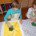 Занятия по рисованию в нетрадиционной технике печати листьями в подготовительной группе на тему «Виноград»
