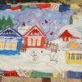 «Деревня Снегирево» («Ситцевая Страна»). Коллективная работа средней группы