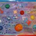 «Космические дали». Коллективная работа детей средней группы