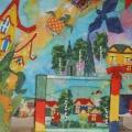 «Деревня Малюткино. Ситцевая страна». Коллективная работа детей старшей группы