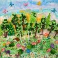 «Летний лес». Коллективная работа детей разновозрастной группы. Мастер-класс