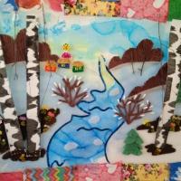 «Весна в Ситцевой стране». Коллективная работа детей подготовительной группы