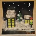 Мастер-класс объемная открытка «Зимний ночной город»