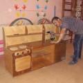 Оформление детского сада. Кухонный уголок своими руками