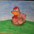Коллективная работа по рисованию (младшая группа) «Весёлой Пасхи!»