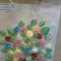 Конспект занятия по аппликации «Красивый цветок в подарок маме» в средней группе