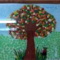 Коллективная работа в нетрадиционной технике рисования «Осеннее дерево»