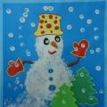 Мастер-класс «Снеговик спешит на ёлку» (поздравительная открытка)