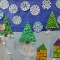 Коллективная работа «Зима». Фотоотчёт