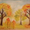 Мастер-класс «Учимся рисовать осенний пейзаж» (с использованием природного материала)