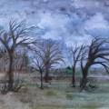 Мастер-класс «Рисуем пейзаж. Хмурая, дождливая осень наступила»