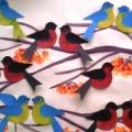 Коллективная работа по рисованию с элементами аппликации в младшей группе «Зимующие птицы»