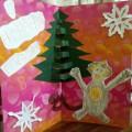 Мастер-класс «Объемная открытка с обезьянкой»
